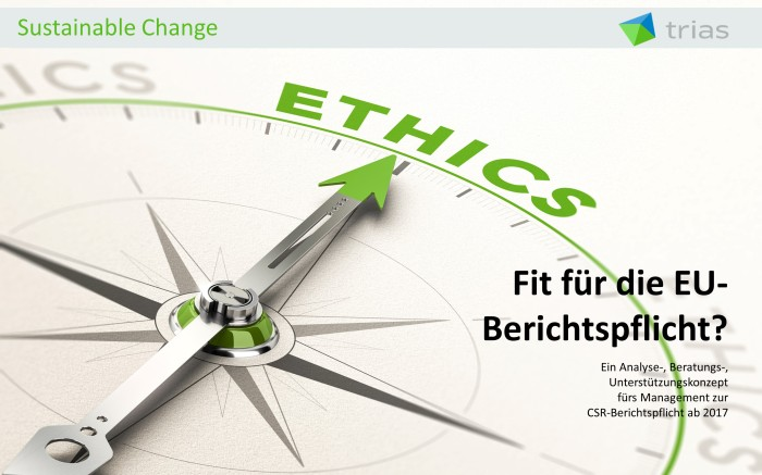 Fit für die neue CSR-Berichtspflicht?